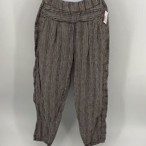 Anthropologie Hei Hei ticking stripe linen pants